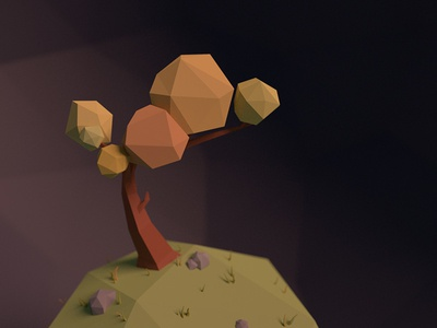 lonely space tree space planet tree 3d blender