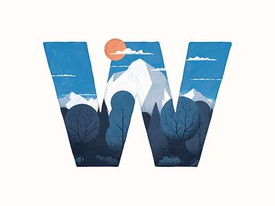 Winter texture mountain landscape vector illustration