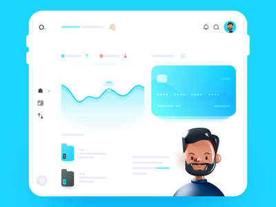 Landing Page Bank user interface designer bank app bank card bank clean user interface user interface design user experience application webdesign interactive app design ui  ux app uidesign