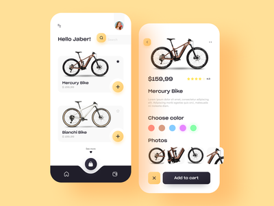 Bike shop mobile application UI concept clean modern application design application bikes biker bike user interface design user interface ux user experience website userinterface interactive webdesign app design ui  ux app uidesign