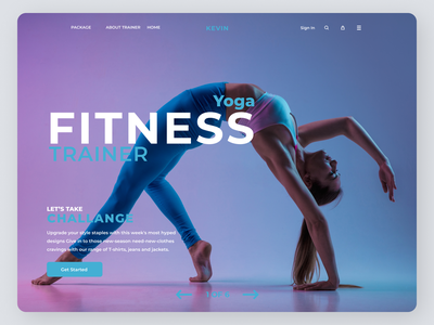 Fitness Trainer Landing Page ux typography design landing page ui lading page ui landing page concept