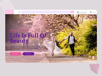 Wedding Planner Landing Page landing page design ux typography landing page ui landing page concept lading page design ui