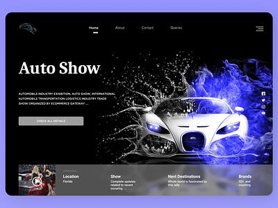 Car Landing Page logo branding ux typography landing page concept lading page design ui