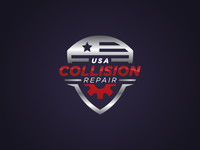 USA Collision Repair Logo Design