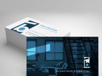 Business Card Design for Real Estate Agency