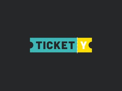 Tickety Custom Logo Design Concept