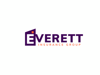 Everett Insurance Group New Logo Design logo designer logos insurance logo logo design logo