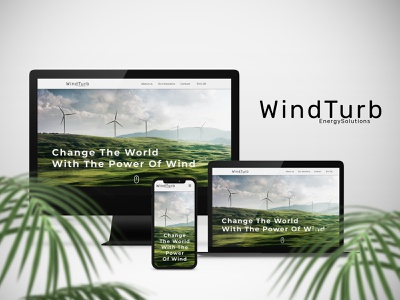 Website UI Mockup - WindTurb uidesign adobe xd mockup websitemockup website design business windturbine wind climate globalwarming envoirnment adobexd ui landingpage webdesign websiteui website