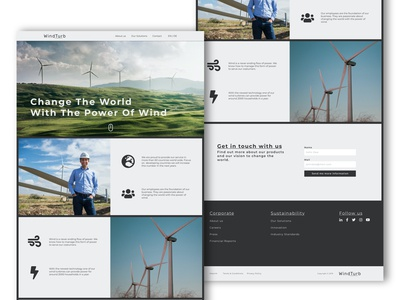 Website UI - WindTurb