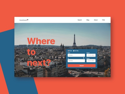 Europe Travel Search Website Landingpage landingpage webui adobexd travelwebsite travel websiteui website design website webdesign uidesign adobe xd