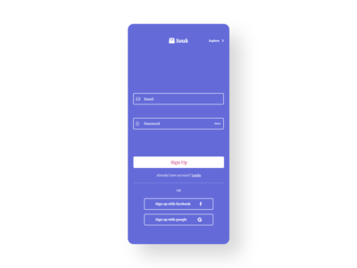 Sign Up for Ecommerce app