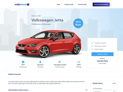 Car Dealer Landing page car landing page web design car rent rent car leasing landing dealer car rental car website auto car landing car dealer