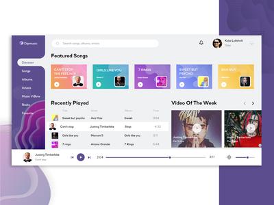 Music Dashboard UI Kit