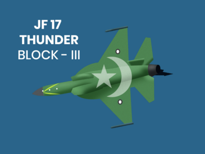 JF 17 THUNDER BLOCK-III illustration vector