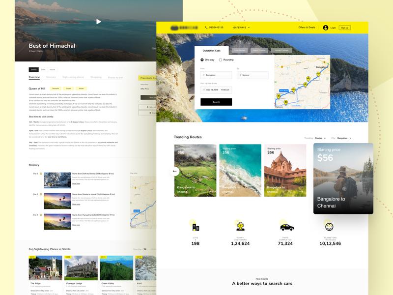 Car Rental Service Website Design user experience user interface design car app travel website design rental car car rental website car car rental ux ui goprotozdesign goprotoz