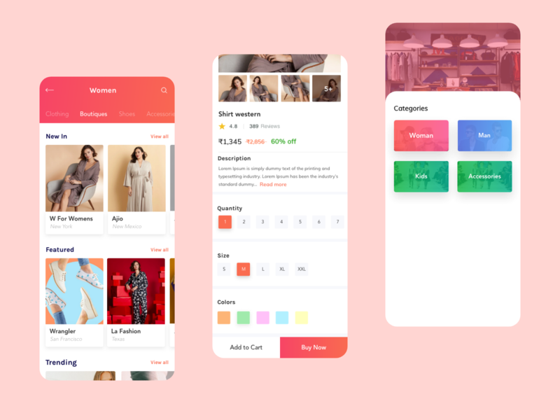 Fashion App UI concept userinterfacedesigner ux designer jobs userinterface design 2020 trending trend clothing shopping app userexperiencedesign fashion illustration fashion app ui uiuxdesign uitips uiux userexperience userinterface