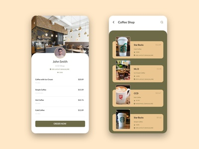 Coffee shop UI ios app dailyui trending ui shop app app design app ui mobile app mobile tea shop shop coffee coffeeshop 2d minimal interaction design app branding illustration ux ui