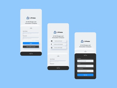 Goprotoz official mobile app minimalism clean app design mobile apps best ui mobile ui mobile trending interaction design 2d minimal app branding illustration ux ui