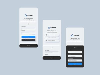 Goprotoz official mobile app minimalism clean app design mobile apps best ui mobile ui mobile trending interaction design 2d minimal app branding illustration ux ui