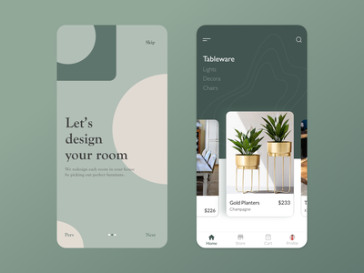 A home décor mobile application design interaction design trending design app ux ui