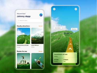 AR Navigation mobile appdesigner appdesign navigation application design application ui mobileapp mobile ui mobileappdesign application design interaction design app illustration ux ui