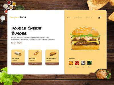 Burger Store web design webdesign website food app tasty food food and drink wrap hotdog burger food illustration food trending minimal app interaction design branding illustration ux ui