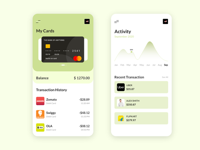 Card expenses tracker 2021 neat fresh application ios android card design mobile 2d light colors minimalist expenditure funds card minimal app interaction design branding ux ui