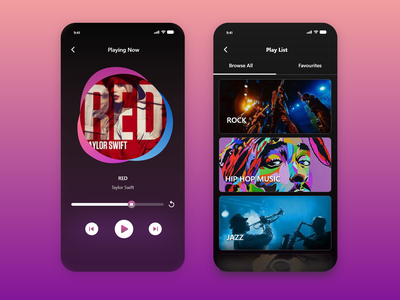 Simple music treat tiktok sketch dark shade trending minimal app interaction design branding music app joy fun peace calm listen player rock instrumental music player songs music
