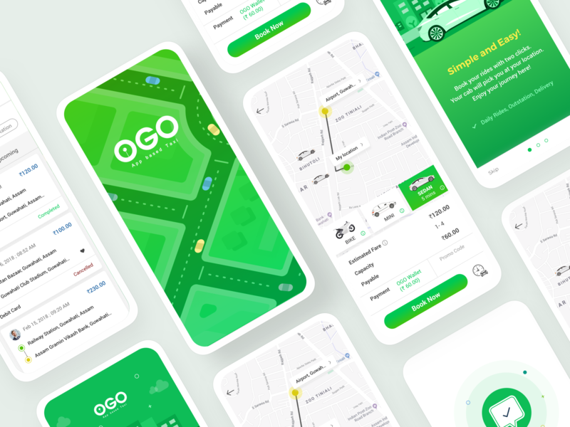 OGO - Taxi Booking App app ui travel goprotozdesign goprotoz taxi driver taxi booking app taxi booking car booking booking cab cab taxi app booking app