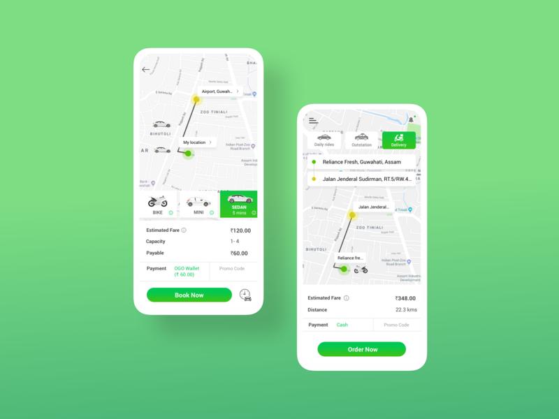 OGO - Taxi Booking App taxi app taxi goprotozdesign goprotoz cab car booking booking cab booking app booking app