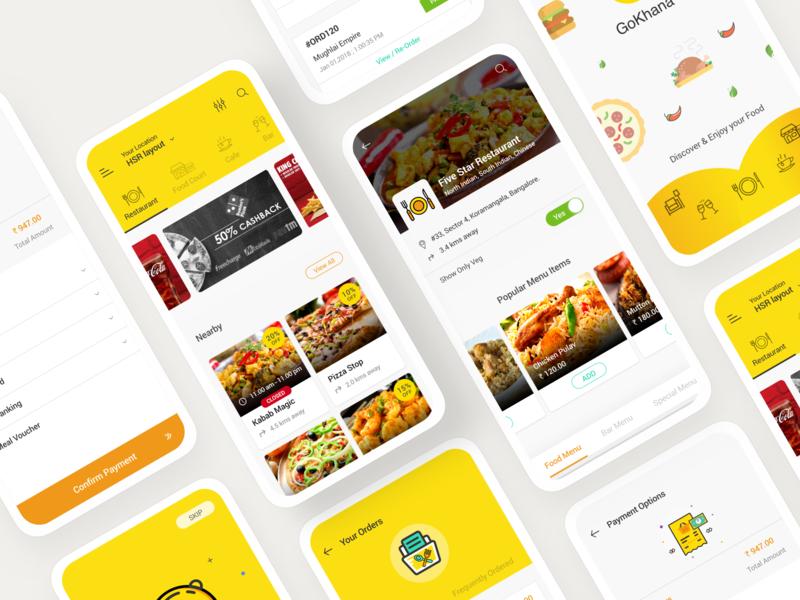 Gokhana - Food Ordering App gokhana goprotozdesign goprotoz user experience user interface uiux ux ui mobile app food ordering app food app food ordering food booking app booking app