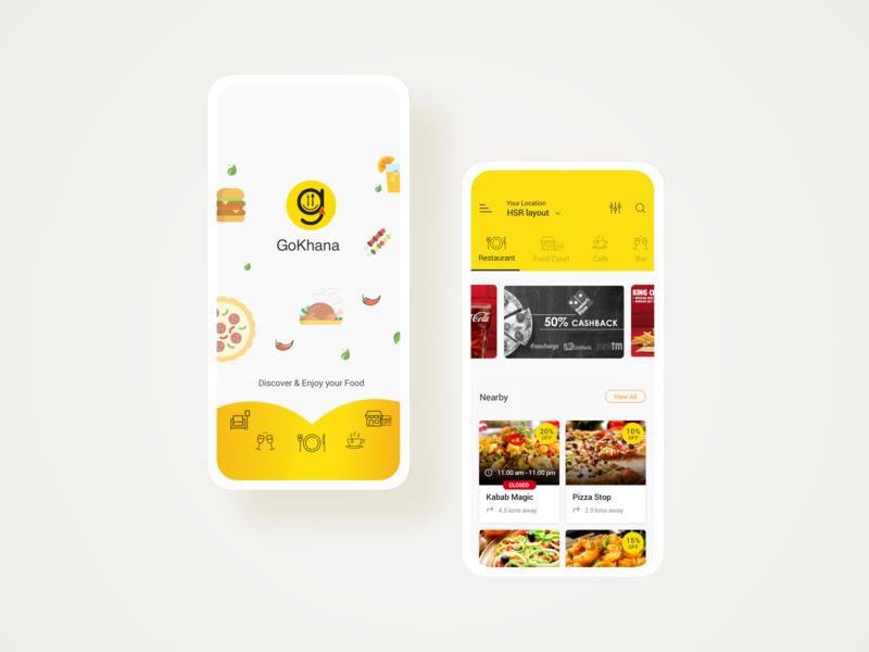 Food Ordering App user experience userinterface cleanui gokhana food ordering app food ordering food app food ui goprotozdesign goprotoz booking app booking app