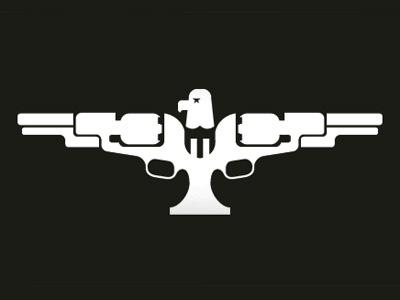 American Antique Firearm logo logo eagle bird star stripes gun guns firearms antique mark identity shooting american vintage