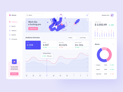 Xenium Dashboard statistics projects product design product managment ecommerce data chart graphic dashboard mallevskiy ux ui