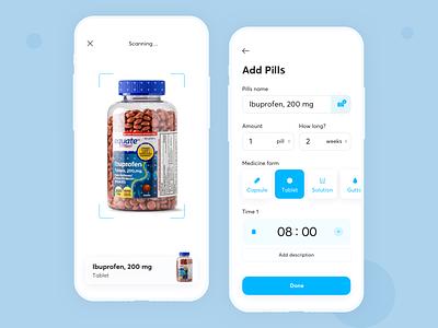 TFP — Add Pills ar pills medicine healthcare health mobile fireart studio fireart ux ui app