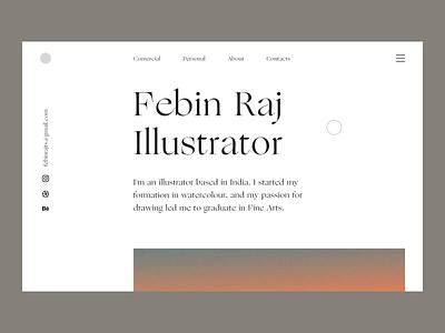 Illustrator Portfolio effects animation art web illustration fireart studio fireart ui illustraor portfolio