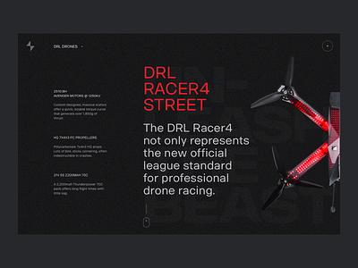 DRL Drones concept landing drones fireart studio fireart ui