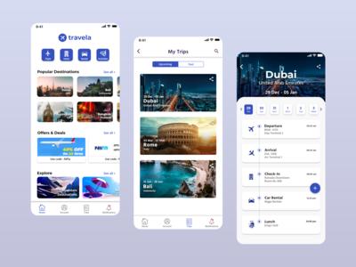 Travela - Travel App Concept
