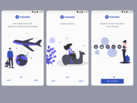 Travela Onboarding Screens for Android travel design illustration ux adobexd