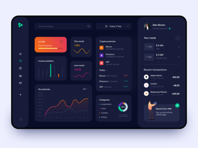 Financial Dashboard - App Design