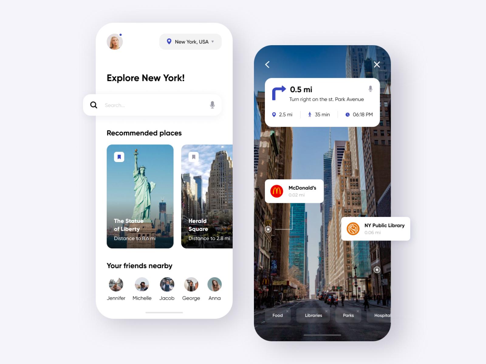 AR Tour guide - Mobile App by Anastasia
