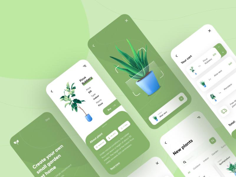 Plant shop - Mobile App design