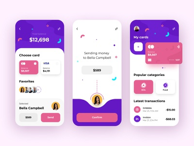 Finance - Mobile App app bank app banking bank fintech app fintech financial app finance app financial finances finance mobile app design mobile ui mobile app app design
