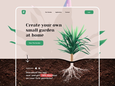 Plant shop - Web Design store flowers shop garden illustrations illustration ecommerce plant illustration plant web e-comerce e-commerce website design web design webdesign website