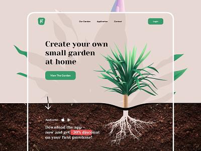 Plant shop - Web Design store flowers shop garden illustrations illustration ecommerce plant illustration plant web e-comerce e-commerce website design web design webdesign website