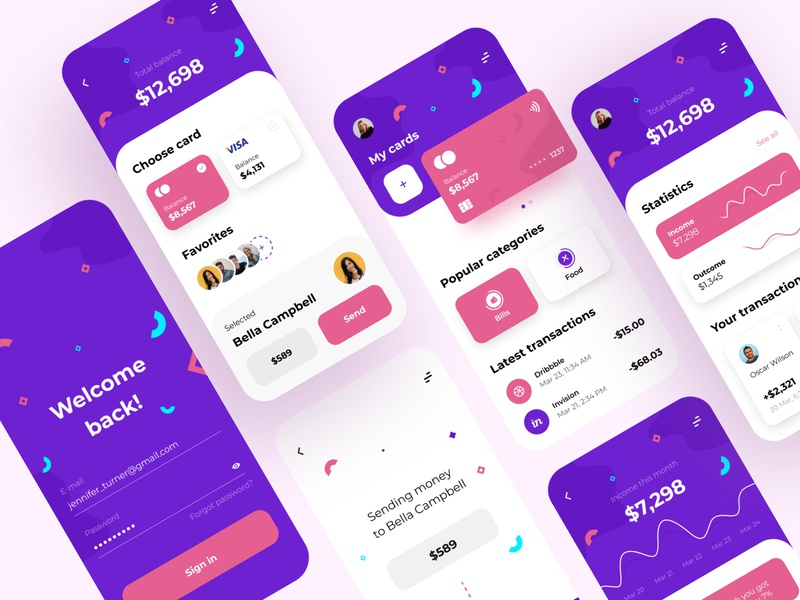 Personal Finance - Mobile App bank app bank banking fintech app fintech financial app financial finance app finances finance mobile app design app mobile ui mobile app app design