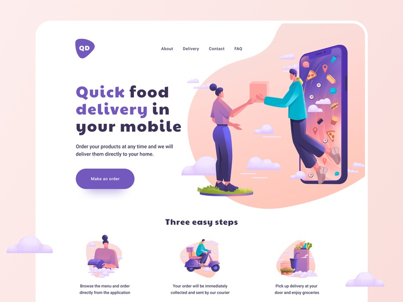 Food Delivery - Web Design