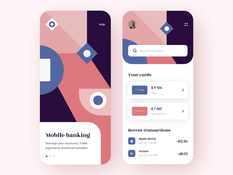 Mobile Bank - App Design financial fintech app finance app fintech bank app banking bank finance mobile design mobile app design app mobile ui mobile app app design