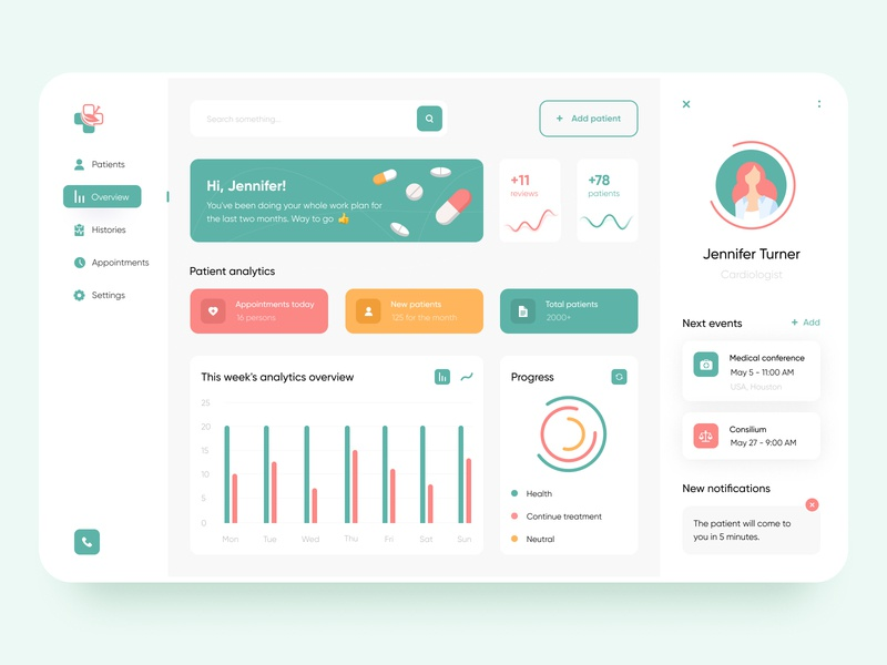 Doctor's personal account - App Design health doctor app doctors doctor mobile design mobile ui mobile app design app mobile app app design