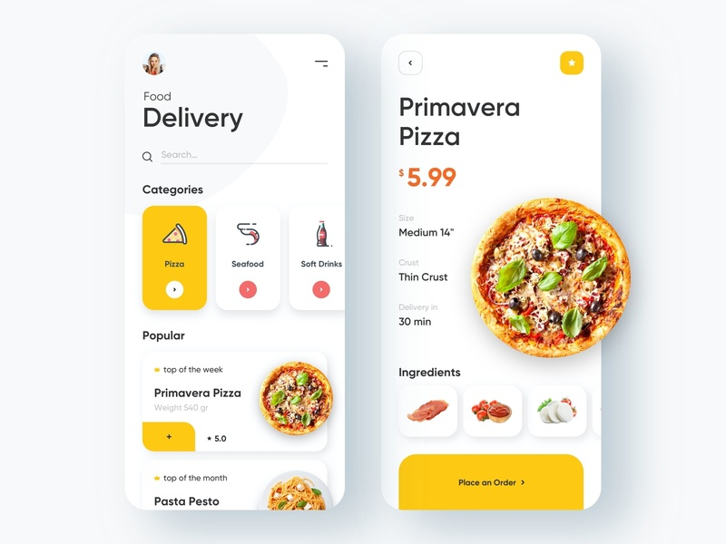 Food Delivery - Mobile App delivery service delivery app delivery food and drink food app food finance travel mobile design mobile app design app mobile ui mobile app app design